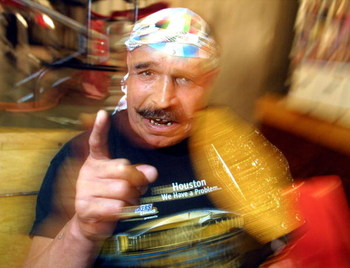 391560 09: Former World Wrestling Federation champion 'The Iron Sheik' attends the Big Apple Comic Book, Art, and Toy Show July 6, 2001 in New York City. (Photo by Mario Tama/Getty Images)