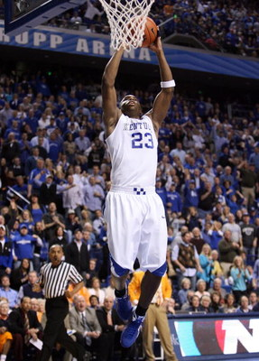LEXINGTON, KY - FEBRUARY 21:  Jodie Meeks #23 of the Kentucky Wildcats dunks the ball during the SEC game against the Tennessee Volunteers at Rupp Arena on February 21, 2009 in Lexington, Kentucky.  (Photo by Andy Lyons/Getty Images)