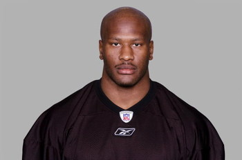 PITTSBURGH - 2008:  James Harrison of the Pittsburgh Steelers poses for his 2008 NFL headshot at photo day in Pittsburgh, Pennsylvania.  (Photo by Getty Images)