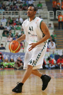 ATHENS, GREECE - MAY 04:  Marcus Brown of Unicaja in action during the EuroLeague Final Four Semi Final match between CSKA Moscow and Unicaja at the Oaka Arena on May 4, 2007 in Athens, Greece.  (Photo by Julian Finney/Getty Images)