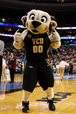 PHILADELPHIA - MARCH 19:  The VCU mascot performs during the game against the UCLA Bruins  during the first round of the NCAA Division I Men's Basketball Tournament at the Wachovia Center on March 19, 2009 in Philadelphia, Pennsylvania.  (Photo by Jim McI