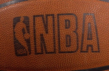 26 Feb 2001:  Photo of the NBA logo on a Spalding basketball at the First Union Center in Philadelphia, Pennsylvania. <Digital File> Mandatory Credit: Doug Pensinger/ALLSPORT.  NOTE TO USER: It is expressly understood that the only rights Allsport are off