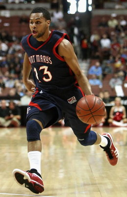 ANAHEIM, CA - DECEMBER 13:  Patrick Mills #13 of the Saint Mary's Gaels drives with the ball against the San Diego State Aztecs in the John R. Wooden Classic at Honda Center on December 13, 2008 in Anaheim, California. The Gaels defeated the Aztecs 67-64.