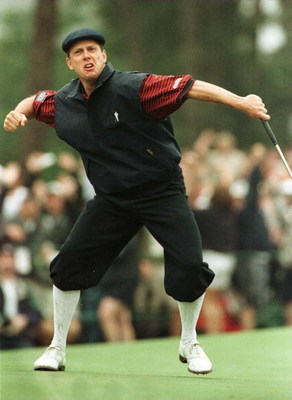 6/20/99 Pinehurst, North Carolina. Payne Stewart Of The Usa Celebrates Winning The1999 Us Open Championship Played At Pinehurst Resort And Golf Club, Pinehurst, North Carolina, Usa.  (Photo By David Cannon/Getty Images)