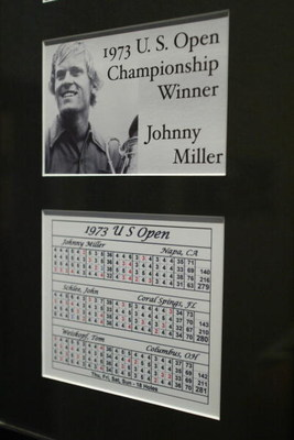 OAKMONT, PA - SEPTEMBER 26:  The scorecards from Johnny's Miller 1973 US Open victory at Oakmont Country Club, site of the 2007 US Open on September 26, 2006 in Oakmont, Pensylvania. (Photo by Rick Stewart/Getty Images)