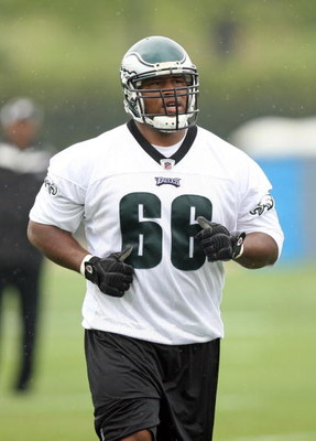 PHILADELPHIA - MAY 1: Defensive lineman Amon Gordon #66 of the Philadelphia Eagles practices during minicamp at the NovaCare Complex on May 1, 2009 in Philadelphia, Pennsylvania. (Photo by Hunter Martin/Getty Images)