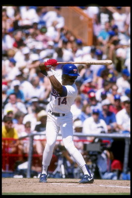 1990:  Second baseman Julio Franco of the Texas Rangers prepares to swing at the ball. Mandatory Credit: Joe Patronite  /Allsport