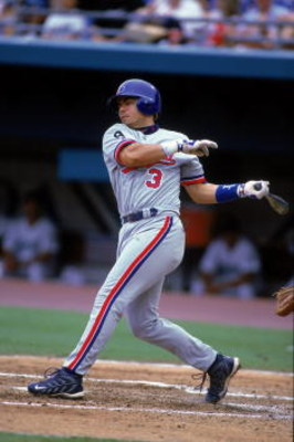 23 Jul 2000:  Jose Vidro #3 of the Montreal Expos is at bat during the game against the Florida Marlins at the Pro Player Stadium in Miami, Florida. The Expos defeated the Marlins 3-1.Mandatory Credit: Al Bello  /Allsport
