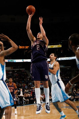 NEW ORLEANS - JANUARY 21:  Josh Boone #2 of the New Jersey Nets shoots against the New Orleans Hornets on January 21, 2009 at the New Orleans Arena in New Orleans, Louisiana. The Hornets defeated the Nets 102-92.   NOTE TO USER: User expressly acknowledge
