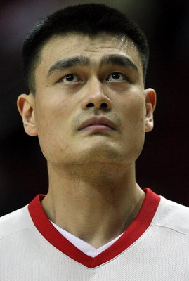 HOUSTON - APRIL 24:  Center Yao Ming #11 of the Houston Rockets during play against the Portland Trail Blazers in Game Three of the Western Conference Quarterfinals during the 2009 NBA Playoffs at Toyota Center on April 24, 2009 in Houston, Texas. NOTE TO
