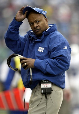 SEATTLE - DECEMBER 24:  Assistant Head Coach Jim Caldwell of the Indianapolis Colts watches his players return to the sideline after kicking a field goal in the first quarter of the Colts' game against the Seattle Seahawks at Qwest Field on December 24, 2