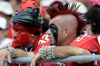 TAMPA, FL - SEPTEMBER 14: Fans of the Tampa Bay Buccaneers watch play against the Atlanta Falcons at Raymond James Stadium on September 14, 2008 in Tampa, Florida.  The Buccaneers defeated the Falcons 24-9. (Photo by Al Messerschmidt/Getty Images)