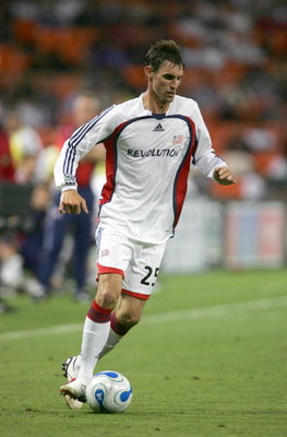 WASHINGTON DC - JUNE 3: Andy Dorman #25 of the New England Revolution controls the ball during the MLS game against the DC United on June 3 2006 at RFK Stadium in Washington DC. The United won 1-0.  (Photo by Doug Pensinger/Getty Images)