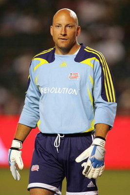 CARSON, CA - JUNE 30:  Goalkeeper Matt Reis #1 of the New England Revolution looks on during a break in game action against Chivas USA during their MLS match at the Home Depot Center on June 30, 2007 in Carson, California. Chivas USA defeated the Revoluti