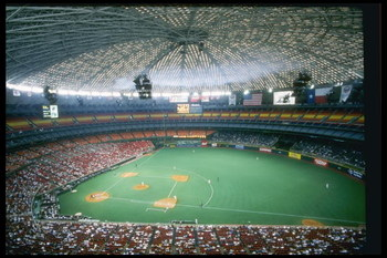 29 Aug 1996: General view of the Houston Astrodome during a game between the Chicago Cubs and the Houston Astros in Houston, Texas. The Cubs won the game 4-3.