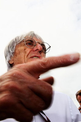 NORTHAMPTON, UNITED KINGDOM - JUNE 21:  F1 supremo Bernie Ecclestone is seen in the paddock before the British Formula One Grand Prix at Silverstone on June 21, 2009 in Northampton, England.  (Photo by Paul Gilham/Getty Images)