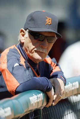 KANSAS CITY, MO - APRIL 8: Manager Jim Leyland #10 of the Detroit Tigers looks on prior to the game against the Kansas City Royals at Kauffman Stadium April 8, 2007 in Kansas City, Missouri. (Photo by G. Newman Lowrance/Getty Images)