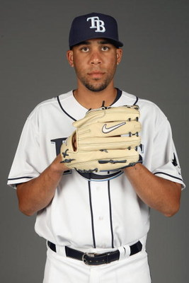 PORT CHARLOTTE, FLORIDA - FEBRUARY 20: David Price #14 of the Tampa Bay Rays poses during Photo Day on February 20, 2009 at the Charlotte County Sports Park in Port Charlotte, Florida. (Photo by: Nick Laham/Getty Images)