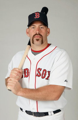 FORT MYERS,FLORIDA - FEBRUARY 22: Kevin Youkilis #20 of the Boston Red Sox poses during photo day at the Red Sox spring training complex on February 22, 2009 in Fort Myers, Florida. (Photo by: Nick Laham/Getty Images)