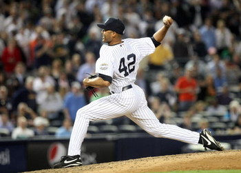 NEW YORK - JUNE 08: Mariano Rivera #42 of the New York Yankees pitches against the Tampa Bay Rays on June 8, 2009 at Yankee Stadium in the Bronx borough of New York City.  (Photo by Nick Laham/Getty Images)