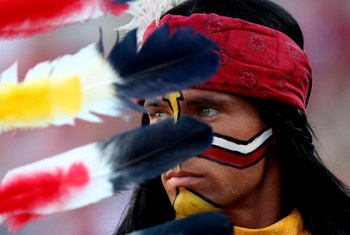ORLANDO, FL - DECEMBER 27:  The Florida State Seminoles mascot Chief Osceola watches the action during the Champs Bowl against the Wisconsin Badgers on December 27, 2008 at the Citrus Bowl in Orlando, Florida.  (Photo by Sam Greenwood/Getty Images)