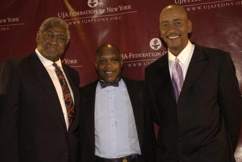 NEW YORK - MAY 20:  (HOLLYWOOD REPORTER OUT)  (L-R) NBA Hall of Famers Willis Reed,  Nate 'Tiny' Archibald and George 'Iceman' Girvin attend the UJA-Federation of New York Dinner honoring Comcast executives Ralph Roberts and Brian Roberts at the Waldorf A