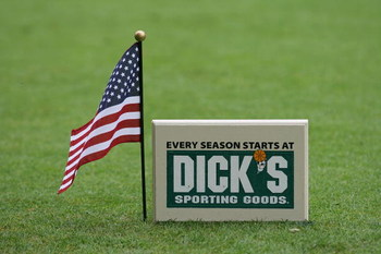 ENDICOTT, NY - JULY 04: American flags were added to the tee markers during the first round of the Dick's Sporting Goods Open at the En-Joie Golf Course held on on July 4, 2008 in Endicott, New York.  (Photo by Michael Cohen/Getty Images)