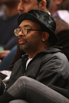 NEW YORK - MARCH 20:  Director Spike Lee watches the game between the Sacramento Kings and the New York Knicks on March 20, 2009 at Madison Square Garden in New York City. NOTE TO USER: User expressly acknowledges and agrees that, by downloading and or us