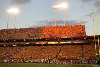 TEMPE, AZ - SEPTEMBER 20:  A general view of the stadium during the game between the Georgia Bulldogs and the Arizona State Sun Devils on September 20, 2008 at Sun Devil Stadium in Tempe, Arizona.  Georgia won 27-10.  (Photo by Stephen Dunn/Getty Images)