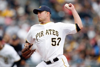 PITTSBURGH - APRIL 13:  Zach Duke #57 of the Pittsburgh Pirates pitches during the Opening Day game against the Houston Astros at PNC Park on April 13, 2009 in Pittsburgh, Pennsylvania.  (Photo by: Gregory Shamus/Getty Images)