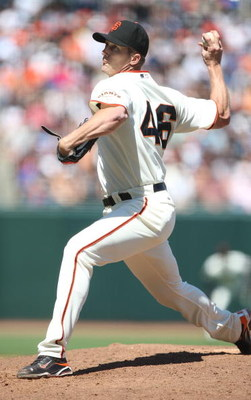 SAN FRANCISCO - JUNE 21: Bob Howry #46 of the San Francisco Giants pitches against the Texas Rangers during a Major League Baseball game on June 21, 2009 at AT&T Park in San Francisco, California.  (Photo by Jed Jacobsohn/Getty Images)
