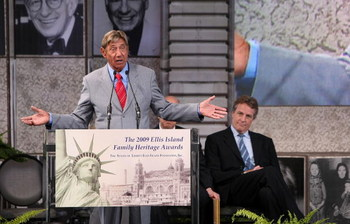 NEW YORK - MAY 19:  Former NFL player Joe Namath addresses the audience after being honored during the 8th Annual Ellis Island Family Heritage Awards on Ellis Island on May 19, 2009 in New York City.  (Photo by Michael Loccisano/Getty Images)