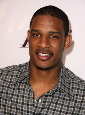 LOS ANGELES, CA - JUNE 18:  NBA player Trevor Ariza arrives at the Los Angeles Laker's official championship victory party at Club Nokia on June 18, 2009 in Los Angeles, California.  (Photo by Alberto E. Rodriguez/Getty Images)