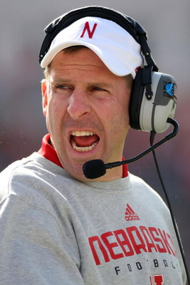 JACKSONVILLE, FL - JANUARY 1:  Head coach Bo Pelini of the Nebraska Cornhuskers yells to his team during the Konica Minolta Gator Bowl against the Clemson Tigers at Jacksonville Municipal Stadium January 1, 2009 in Jacksonville, Florida.  (Photo by Sam Gr
