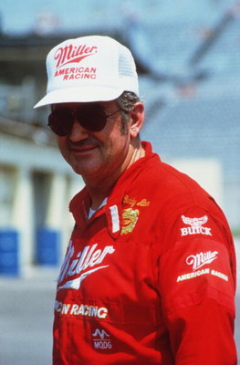 1985:  NASCAR Driver Bobby Allison during a car race.   Mandatory Credit: Allsport USA/ALLSPORT