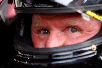 BRISTOL, TN - MARCH 21:  NASCAR legend Cale Yarborough sits in his car prior to the start of the NASCAR Legends UARA Race at Bristol Motor Speedway on March 21, 2009 in Bristol, Tennessee.  (Photo by Chris Graythen/Getty Images)