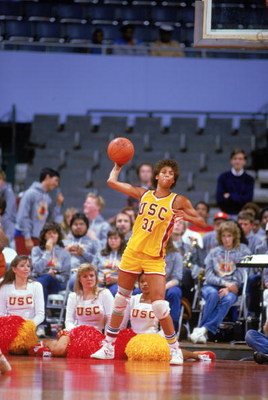 UNDATED- Cheryl Miller #31 of USC Trojans passes during a women basketball game. Cheryl Miller's college career lasted from 1983-1986. (Photo by: Rick Stewart/Getty Images)