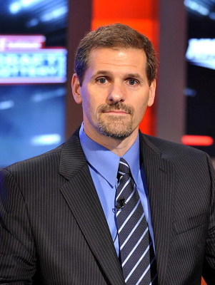 TORONTO - APRIL 14:  Ron Hextall takes part in the NHL Draft Lottery at the TSN Studios April 14, 2009 in Toronto, Ontario, Canada. (Photo by Brad White/Getty Images)