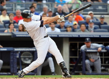 NEW YORK - JULY 01:  Mark Teixeira #25 of the New York Yankees bats against the Seattle Mariners on July 1, 2009 at Yankee Stadium in the Bronx borough of New York City.  (Photo by Jim McIsaac/Getty Images)