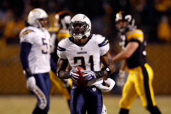 PITTSBURGH - JANUARY 11:  Antonio Cromartie #31 of the San Diego Chargers looks on against the Pittsburgh Steelers during their AFC Divisional Playoff Game on January 11, 2009 at Heinz Field in Pittsburgh, Pennsylvania. Steelers won 35-24. (Photo by Chris