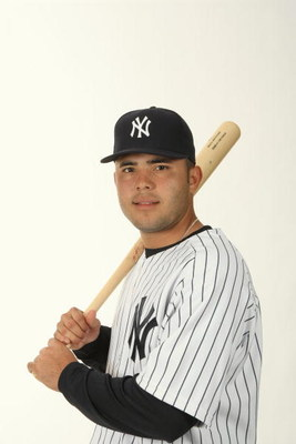 TAMPA, FL - FEBRUARY 19:  Jesus Montero #83 of the New York Yankees poses during Photo Day on February 19, 2009 at Legends Field in Tampa, Florida. (Photo by Nick Laham/Getty Images)