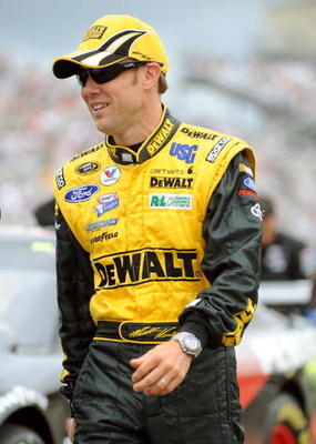 LOUDON, NH - JUNE 28:  Matt Kenseth, driver of the #17 DeWalt Ford, walks down the grid prior to the start of the NASCAR Sprint Cup Series LENOX Industrial Tools 301 at New Hampshire Motor Speedway on June 28, 2009 in Loudon, New Hampshire.  (Photo by Jef