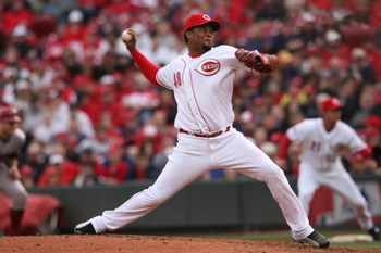 CINCINNATI - MARCH 31:  Francisco Cordero #48 of the Cincinnati Reds pitches against the Arizona Diamondbacks during the game on March 31, 2008 at Great American Ball Park in Cincinnati, Ohio.  (Photo by Andy Lyons/Getty Images)