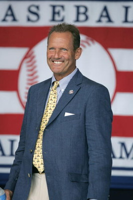 COOPERSTOWN, NY - JULY 31: Hall of Famer George Brett attends the Baseball Hall of Fame Induction ceremony on July 31, 2005 at the Clark Sports Complex in Cooperstown, New York.  (Photo by Ezra Shaw/Getty Images)