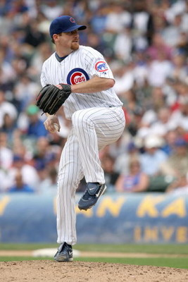 CHICAGO - JUNE 17:  Ryan Dempster #46 of the Chicago Cubs delivers the pitch against the Chicago White Sox on June 17, 2009 at Wrigley Field in Chicago, Illinois. (Photo by Jonathan Daniel/Getty Images)