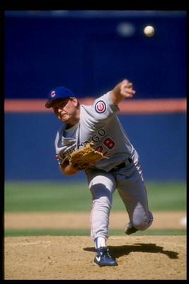30 Jun 1993:  Pitcher Randy Myers of the Chicago Cubs throws a pitch during a game against the San Diego Padres at Jack Murphy Stadium in San Diego, California.  Mandatory Credit: Stephen Dunn  /Allsport