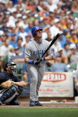 MILWAUKEE - JULY 31:  Jim Edmonds #15 of the Chicago Cubs bats during their MLB game against the Milwaukee Brewers on July 31, 2008 at Miller Park in Milwaukee, Wisconsin. The Cubs defeated the Brewers 11-4. (Photo by Jonathan Daniel/Getty Images)
