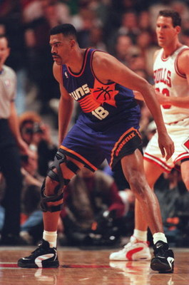 28 Jan 1996:  John Williams of the Phoenix Suns in action during a 93-82 loss to the Chicago Bulls at the United Center in Chicago, Illinois.     Mandatory Credit: Jonathan Daniel/ALLSPORT