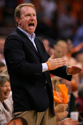 PHOENIX - MAY 16:  Phoenix Suns owner Robert Sarver reacts during the game against the San Antonio Spurs in Game Five of the Western Conference Semifinals during the 2007 NBA Playoffs at US Airways Center on May 16, 2007 in Phoenix, Arizona. NOTE TO USER: