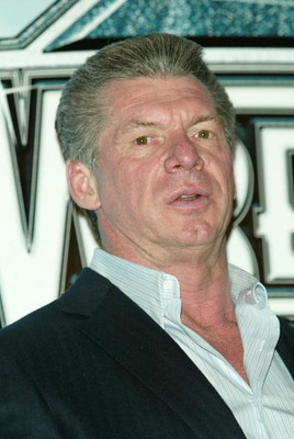 NEW YORK - MARCH 11:  WWE Chairman Vince McMahon attends a press conference to promote Wrestlemania XX at Planet Hollywood March 11, 2004 in New York City.  (Photo by Peter Kramer/Getty Images)